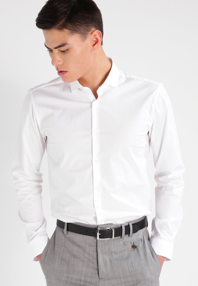 HUGO - ERONDO EXTRA SLIM FIT - Camicia elegante - open white