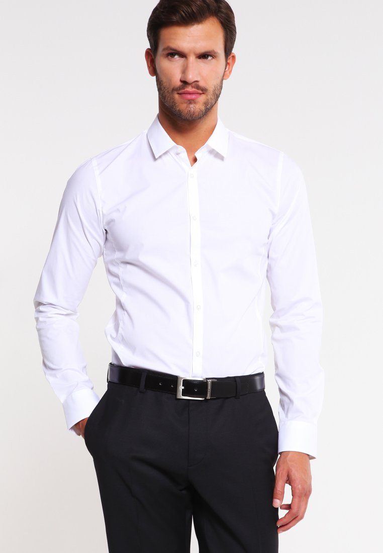 HUGO - ENIN EXTRA SLIM FIT  - Kostymskjorta - open white