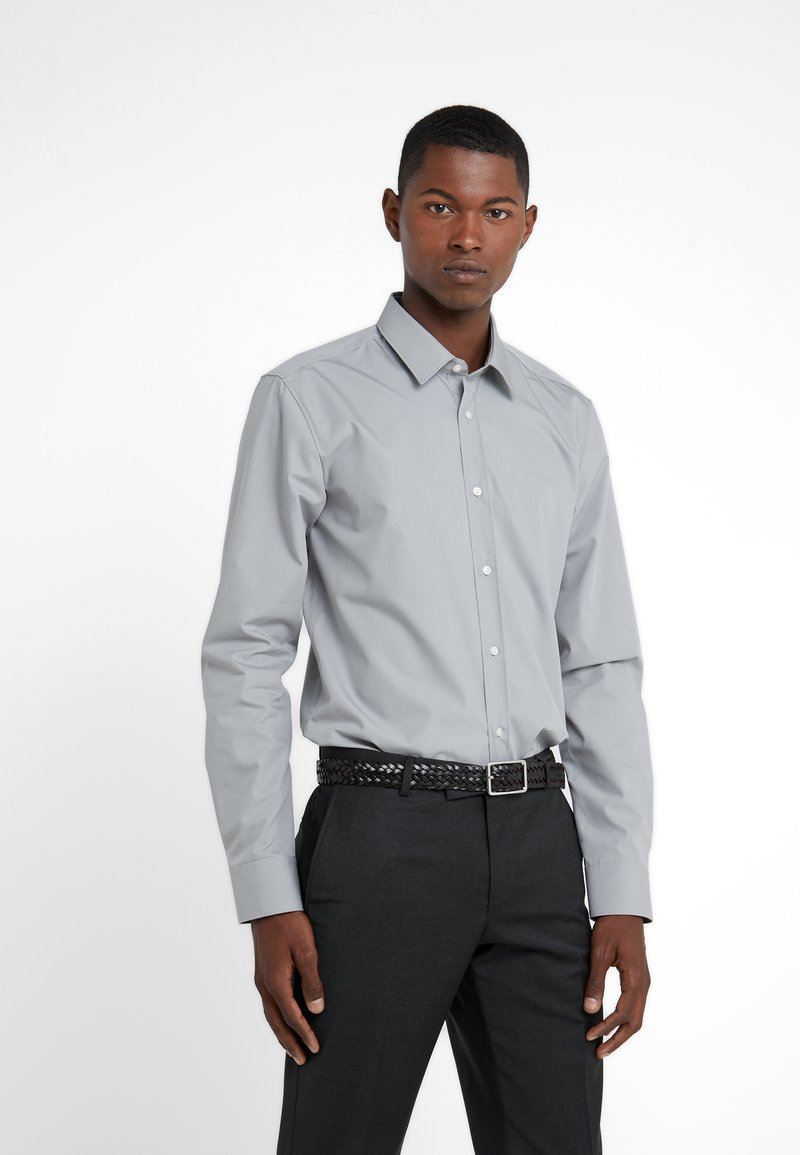 HUGO - ELISHA EXTRA SLIM FIT - Camisa elegante - open grey