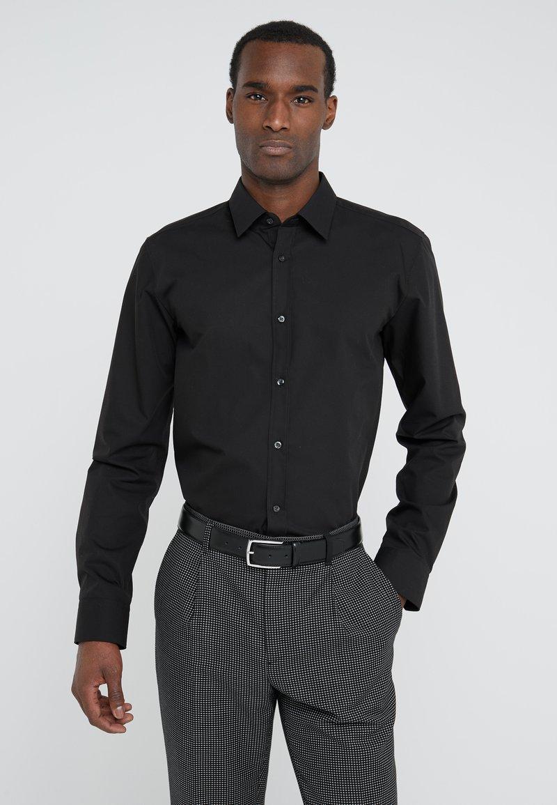 HUGO - ELISHA EXTRA SLIM FIT - Zakelijk overhemd - black