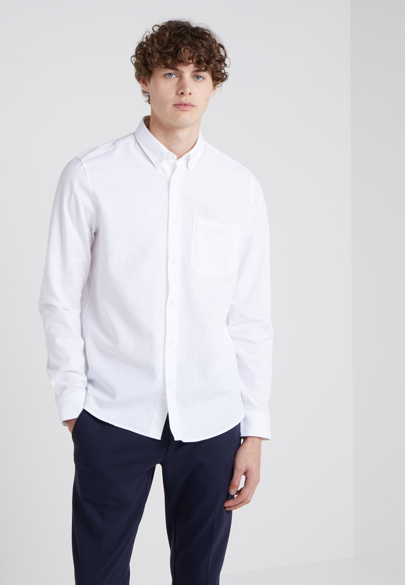 HUGO - ERMANN STRAIGHT FIT - Camisa - open white