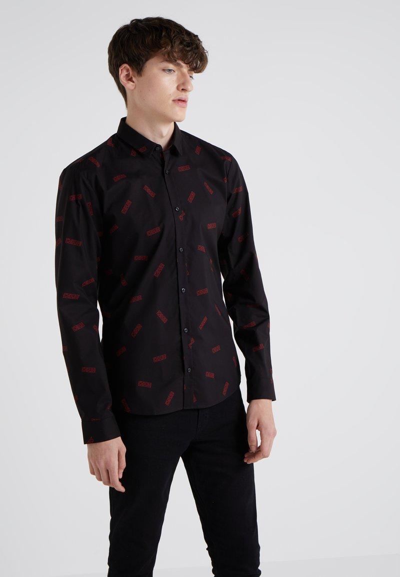HUGO - ERO EXTRA SLIM FIT - Shirt - black
