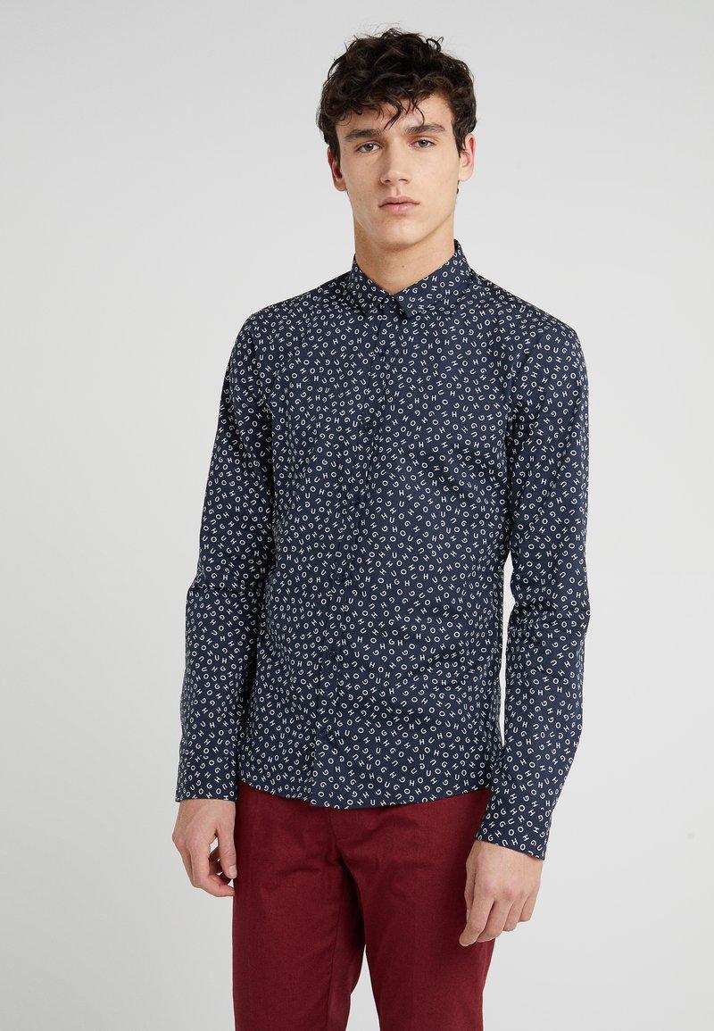 HUGO - ERO EXTRA SLIM FIT - Shirt - dark blue