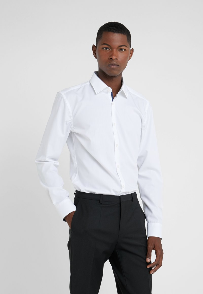 HUGO - KOEY SLIM FIT - Koszula biznesowa - open white