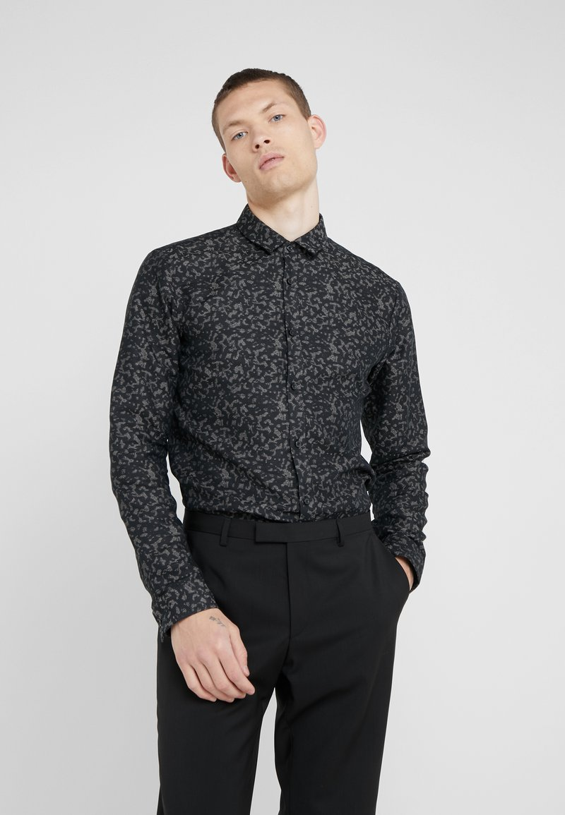 HUGO - ERO EXTRA SLIM FIT - Shirt - black