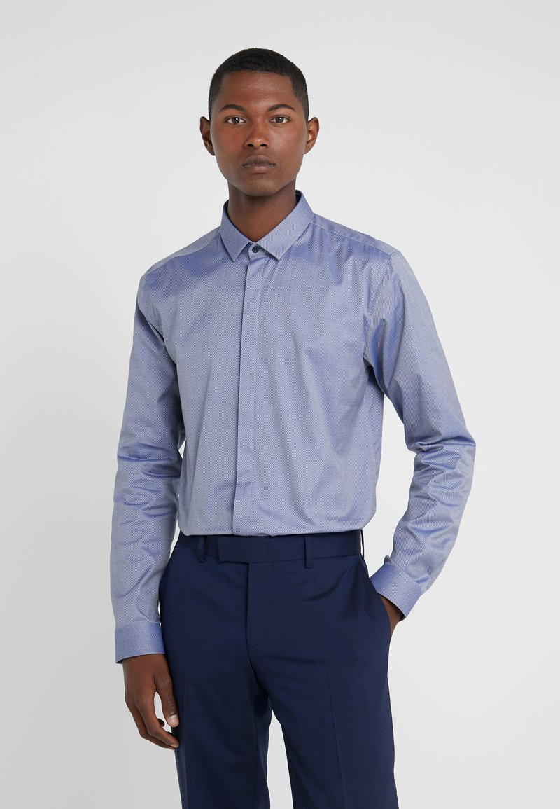 HUGO - ETRAN EXTRA SLIM FIT - Camisa elegante - navy
