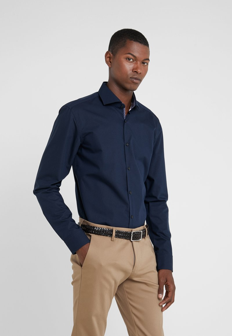 HUGO - KERY SLIM FIT - Camisa elegante - navy