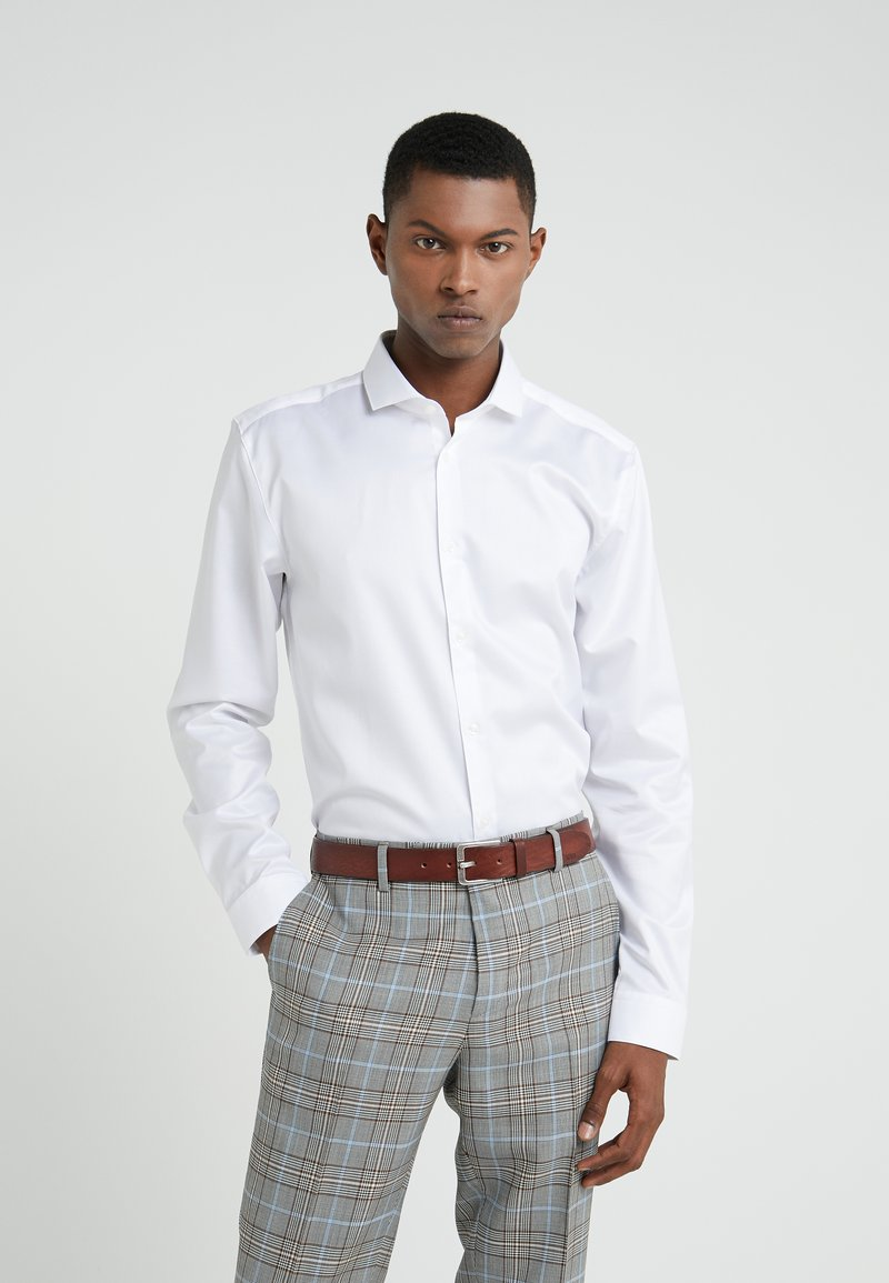 HUGO - ERRIKO EXTRA SLIM FIT - Koszula - open white