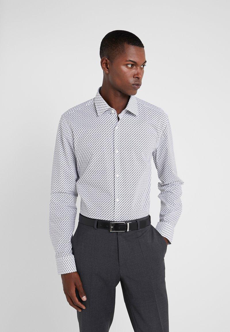 HUGO - KENNO SLIM FIT - Formal shirt - black/white