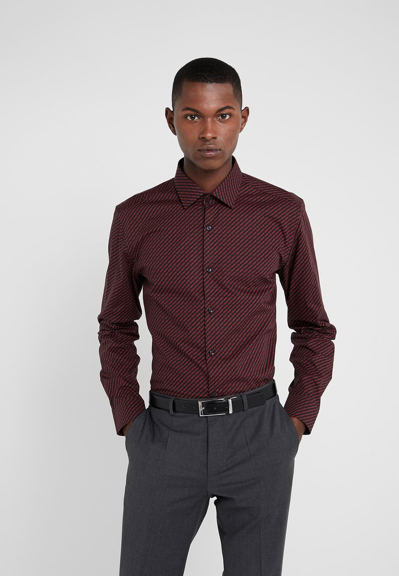 HUGO - KENNO SLIM FIT - Camisa elegante - black/red