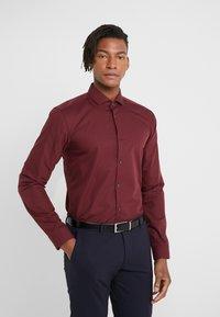 HUGO - ERRIKO EXTRA SLIM FIT - Formal shirt - dark red - 0