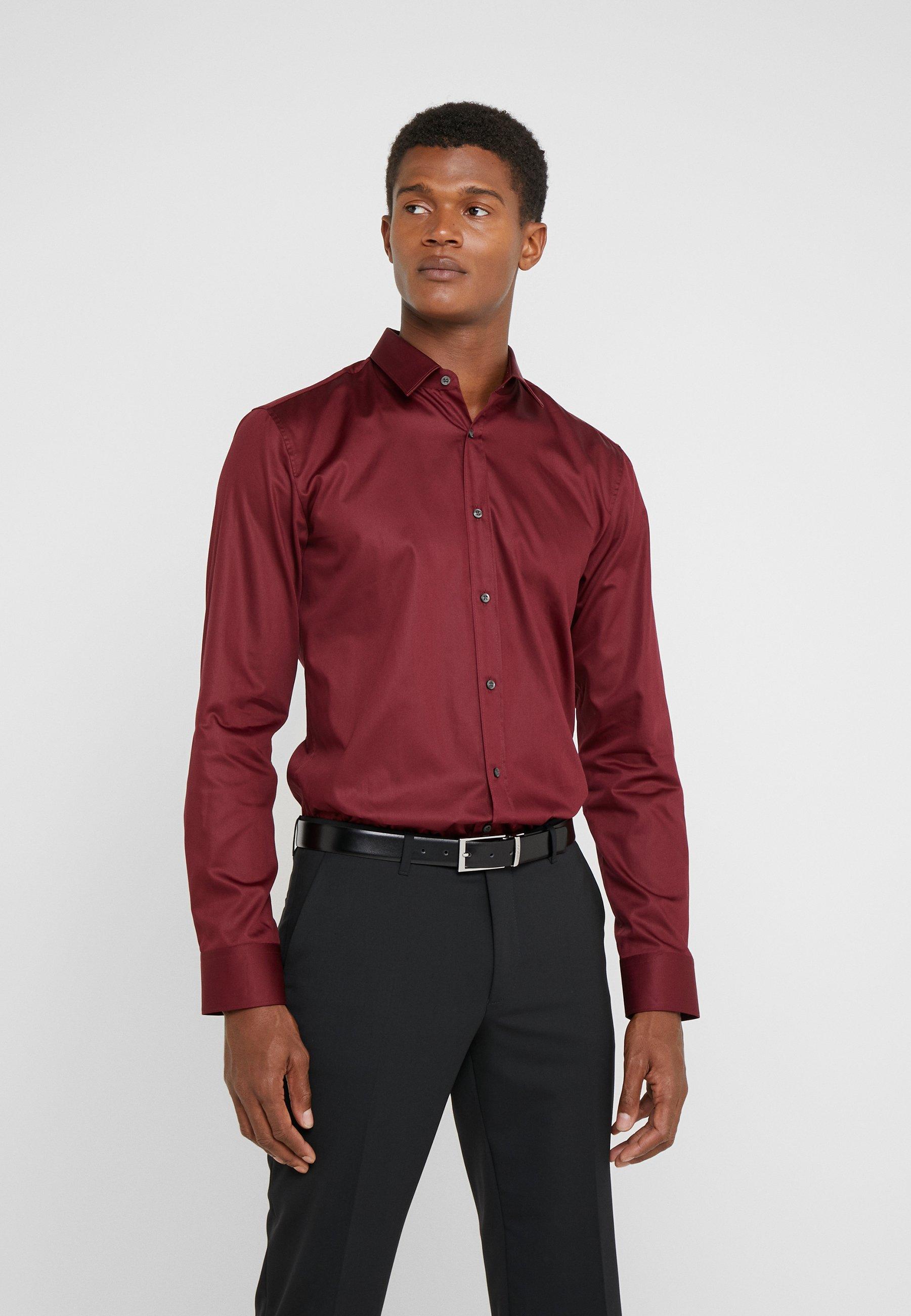 HUGO ELISHA EXTRA SLIM FIT - Koszula biznesowa - dark red