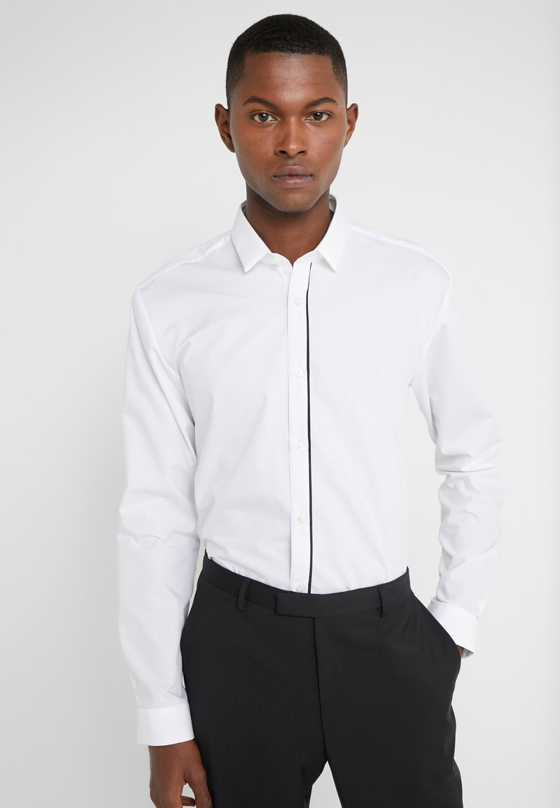 HUGO - EMILIONN EXTRA SLIM FIT - Formal shirt - open white