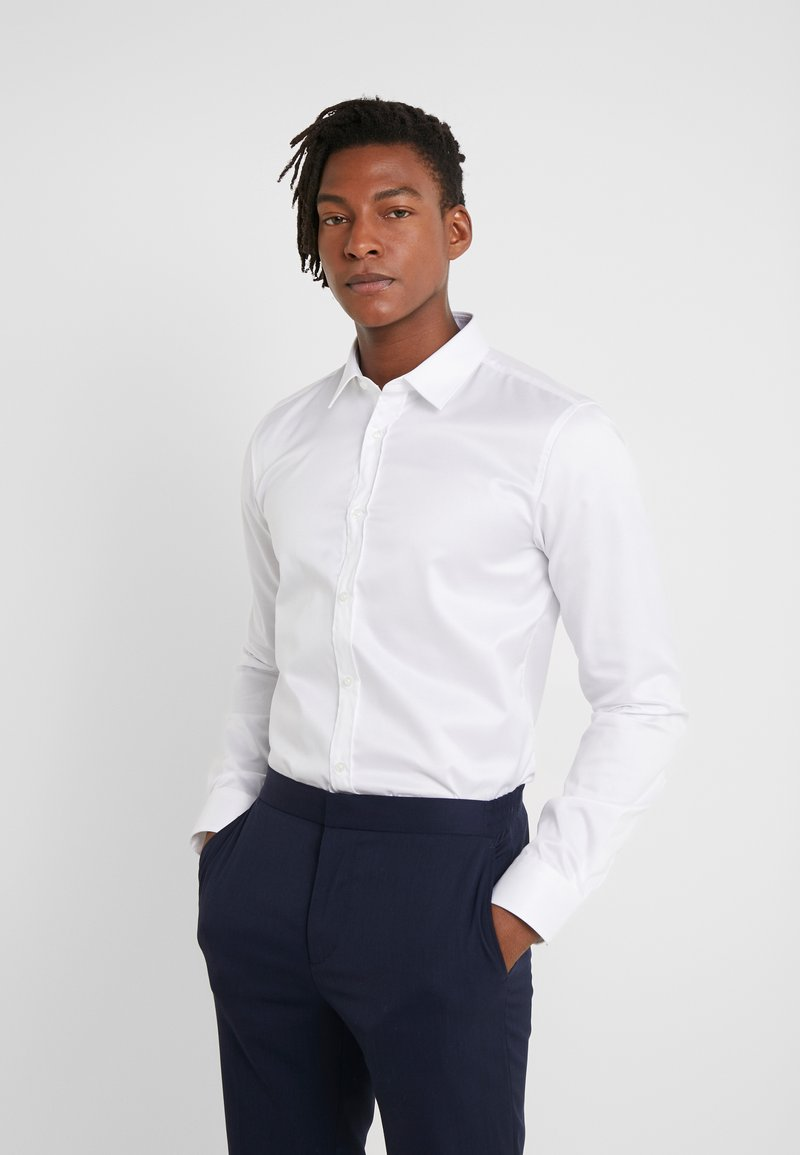 HUGO - ELISHA SLIM FIT - Finskjorte - open white
