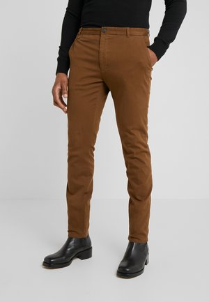 HELDOR - Pantalones chinos - medium brown