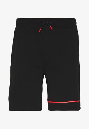 DUSOL - Tracksuit bottoms - black