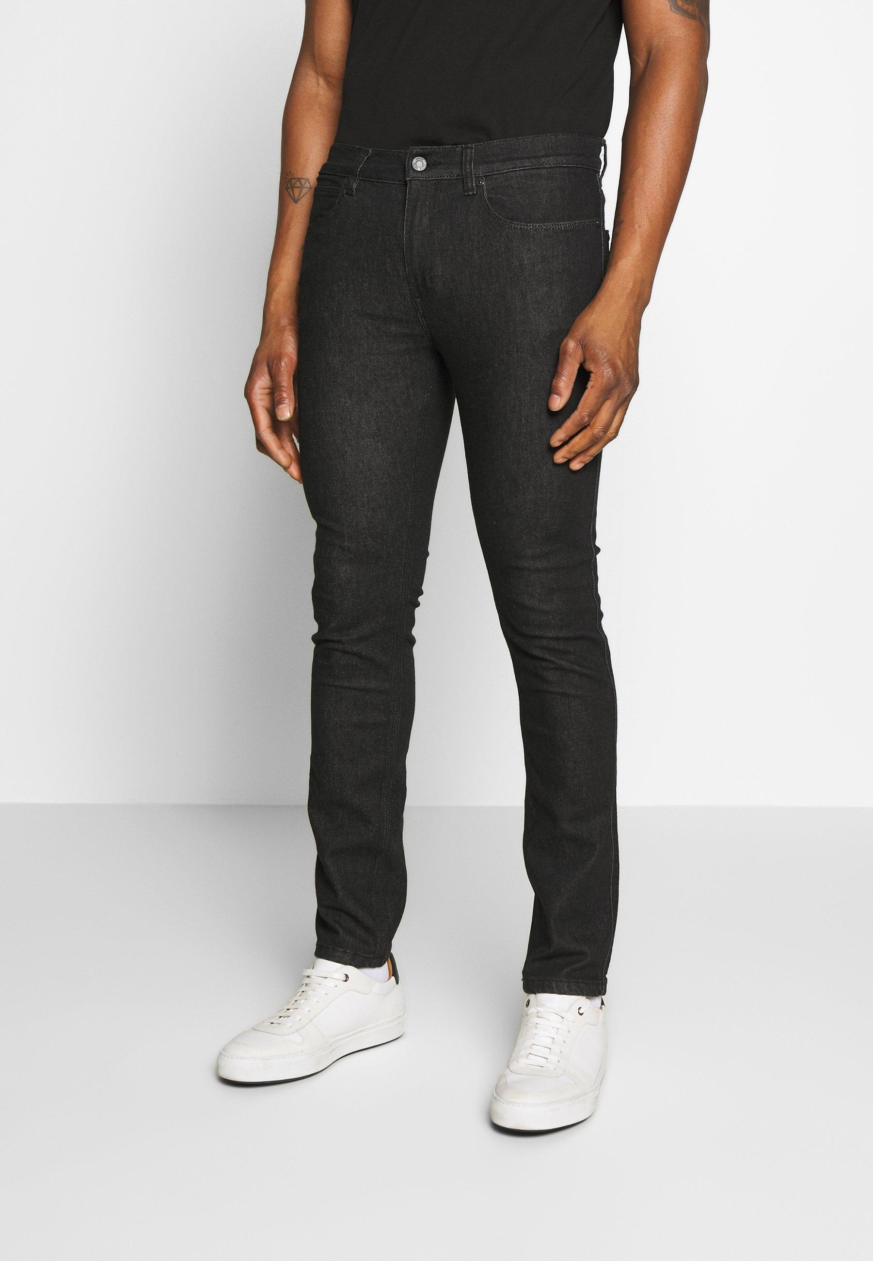 HUGO Jeansy Slim Fit - black