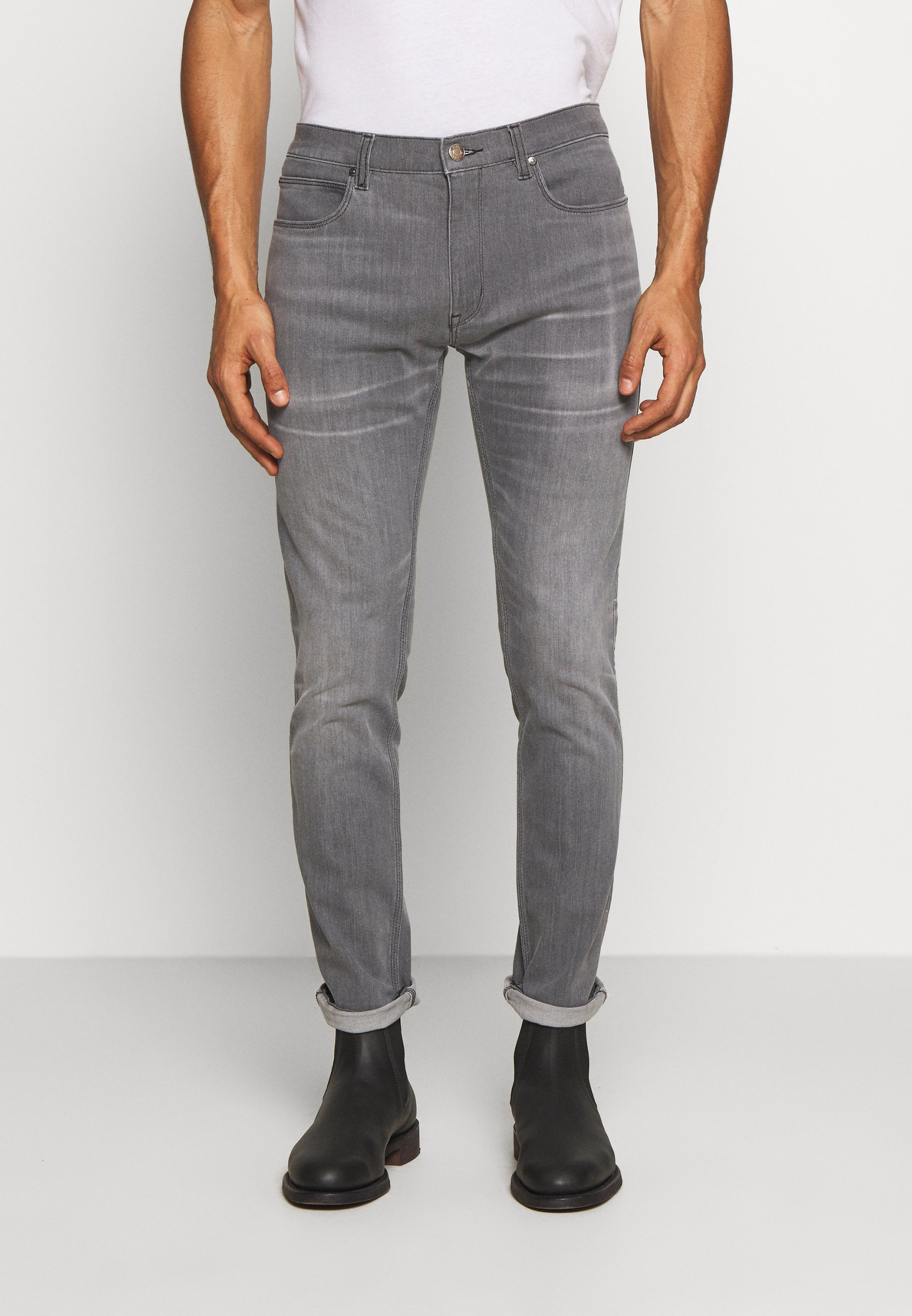 HUGO Jeansy Slim Fit - medium grey