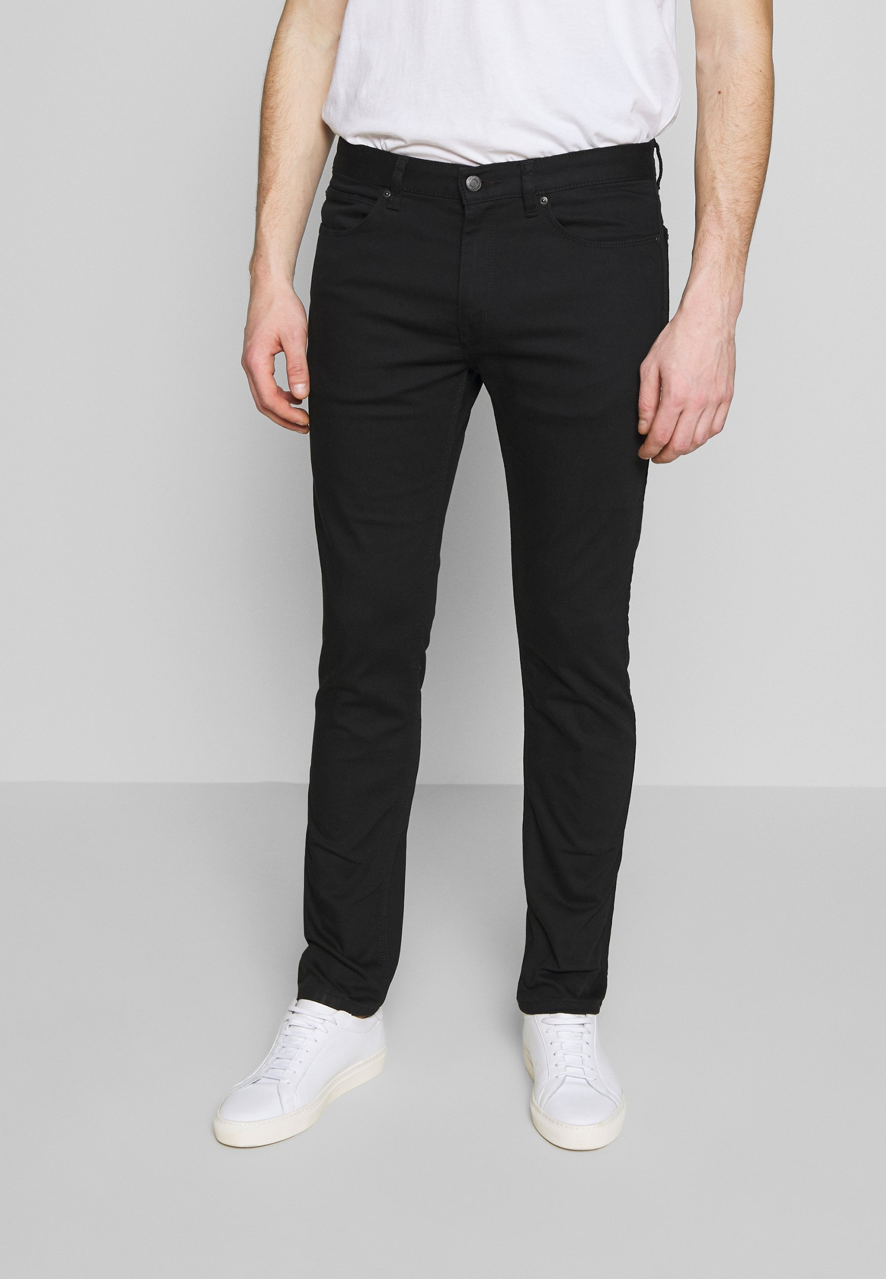 HUGO Jeansy Slim Fit - black