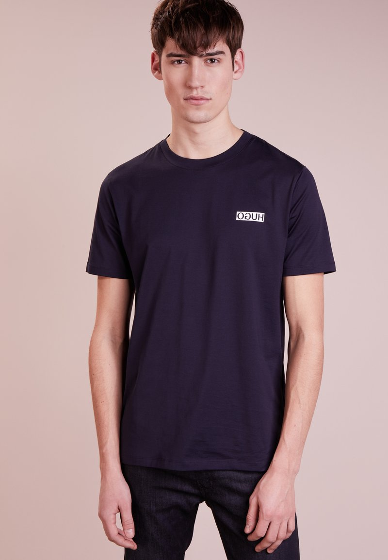 HUGO - DURNED - T-Shirt print - navy