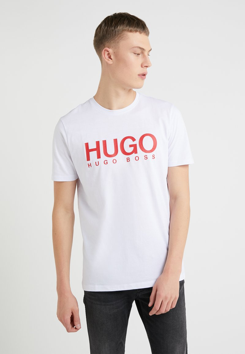HUGO - DOLIVE - Camiseta estampada - white