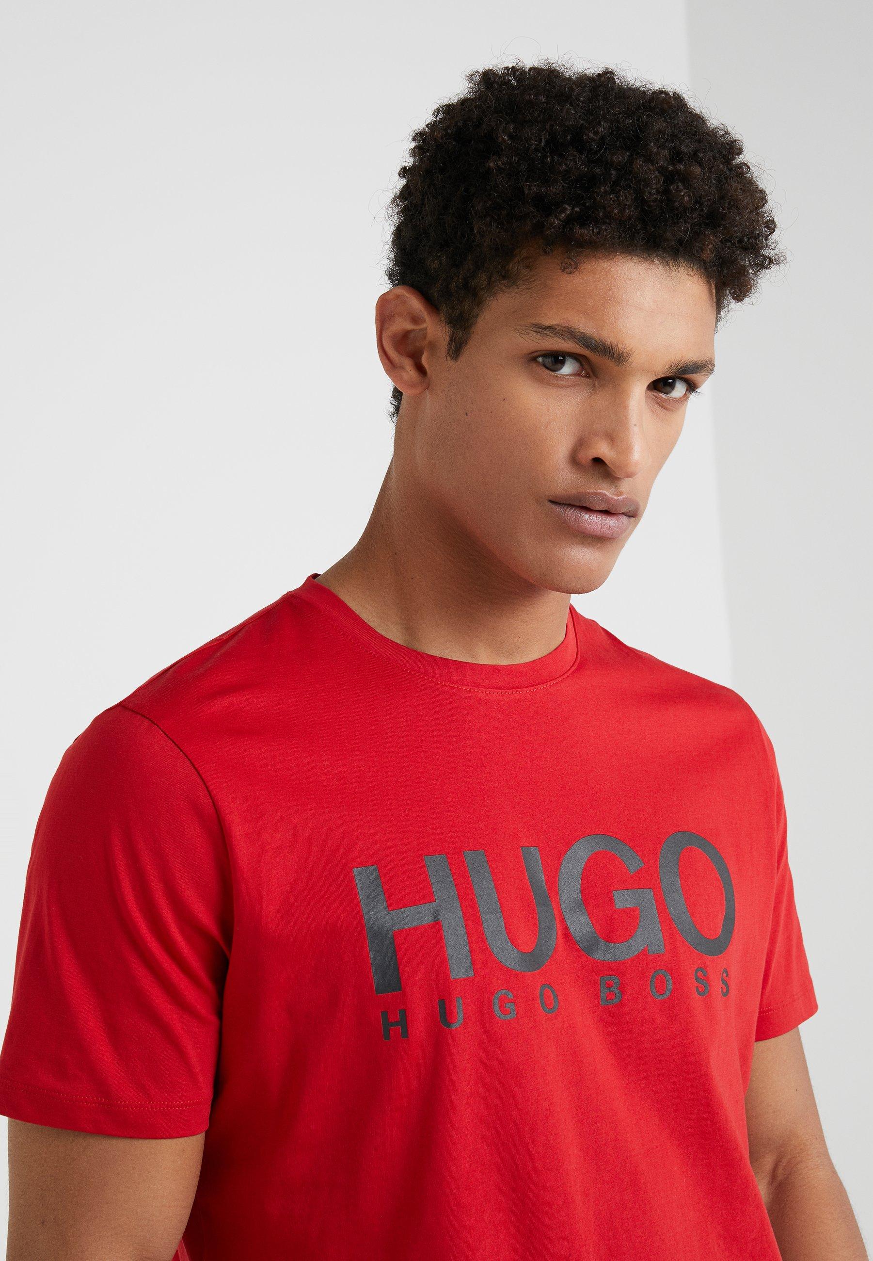 HUGO DOLIVE - T-shirt imprimé - bright red