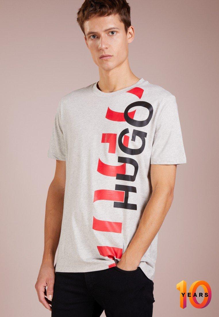 HUGO - DERO - T-shirt imprimé - grau