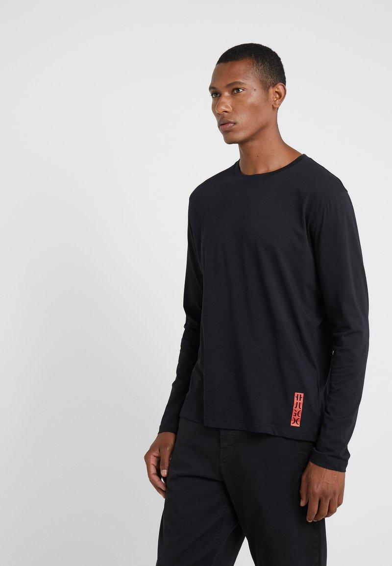 HUGO - DASILE - Langarmshirt - black