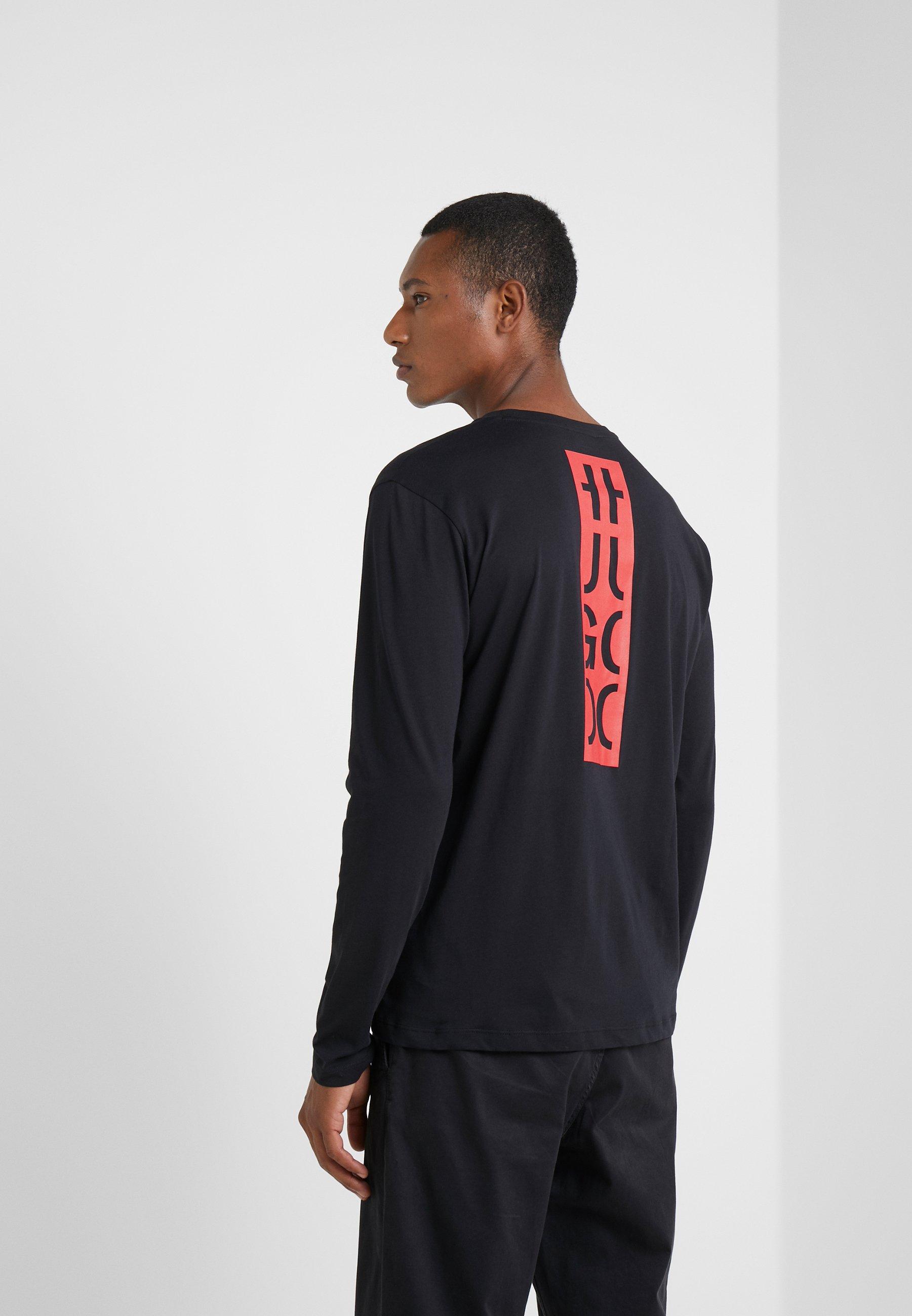À Manches Black DasileT shirt Hugo Longues 5jR4Aqc3L