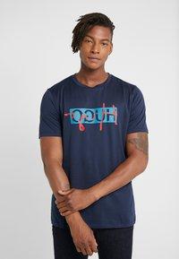 HUGO - DICAGOLINO - T-shirt print - dark blue - 0
