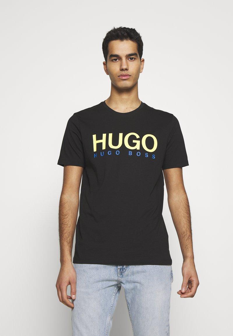 HUGO - DOLIVE - Triko spotiskem - black