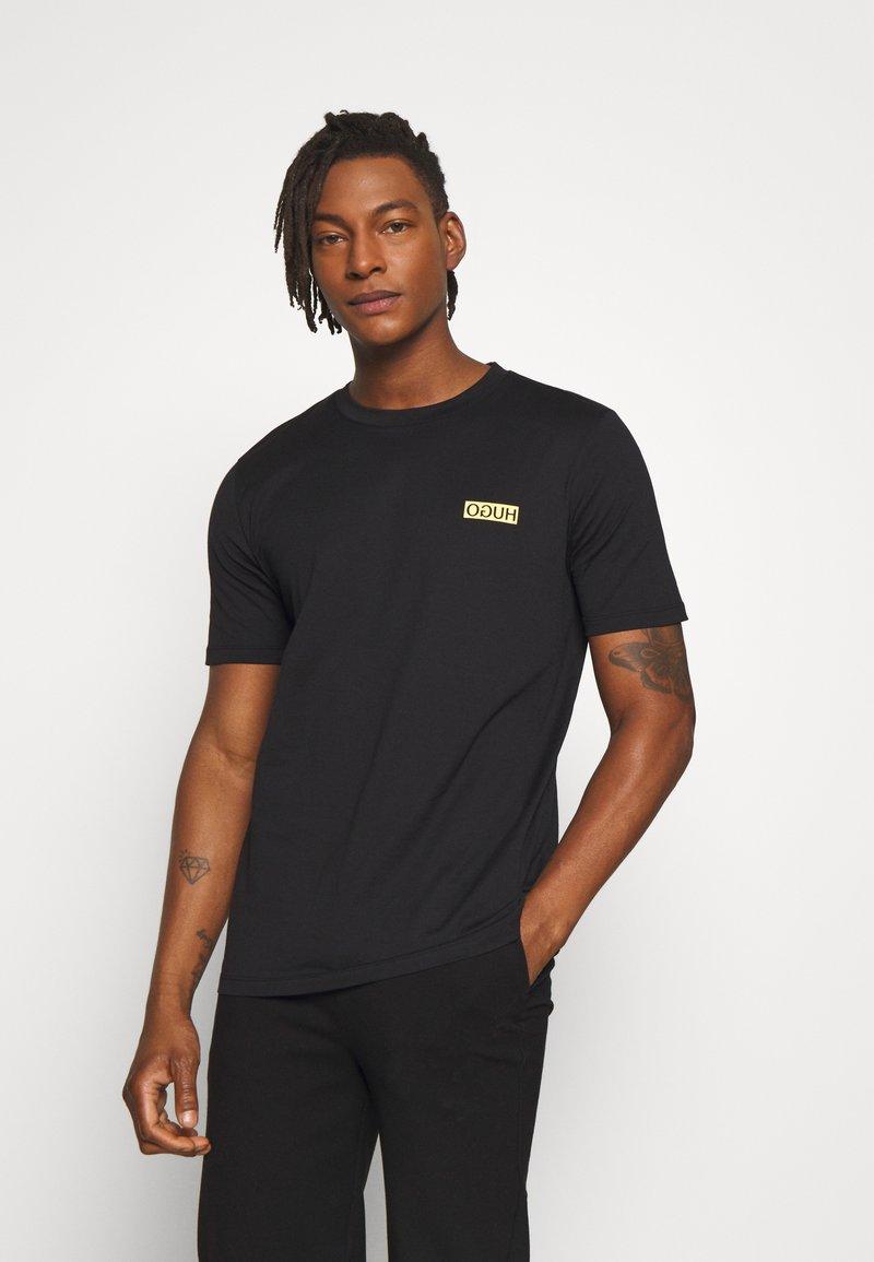 HUGO - DURNED - T-shirt basic - black