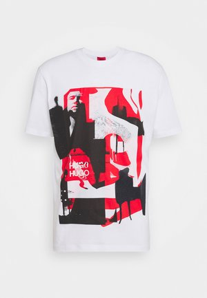 DENTRAL - T-shirt z nadrukiem - white