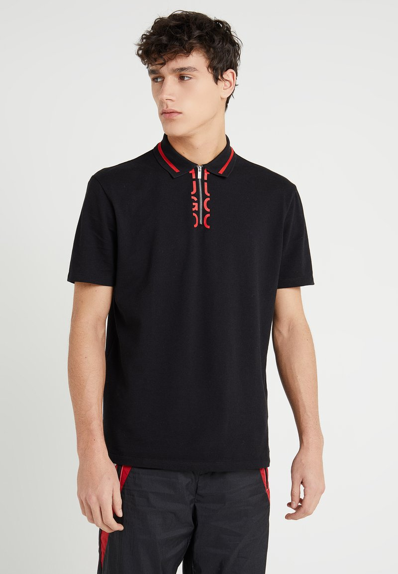 HUGO - DOLMAR - Polo shirt - black