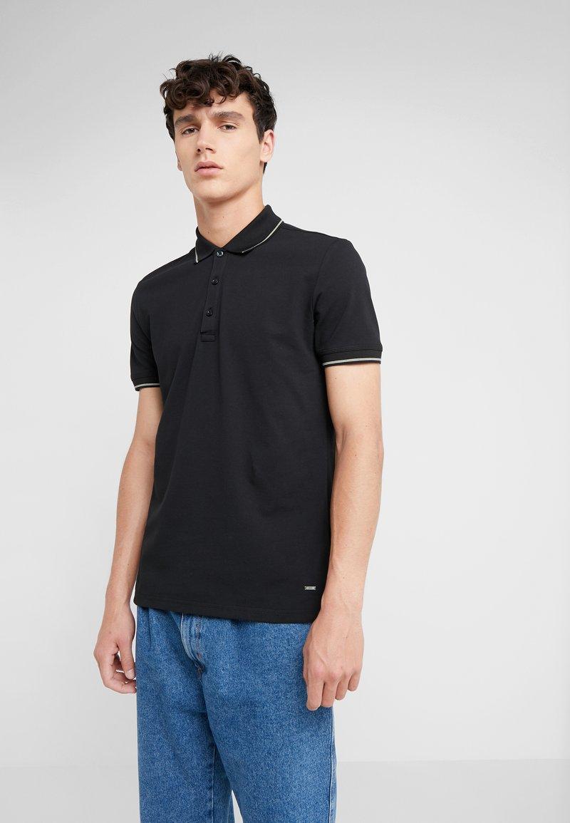 HUGO - DINOSO SLIM FIT - Polo - black