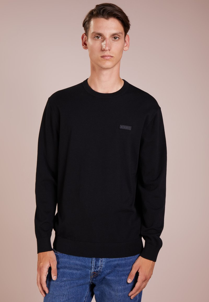 HUGO - SAN CLAUDIO - Strickpullover - black