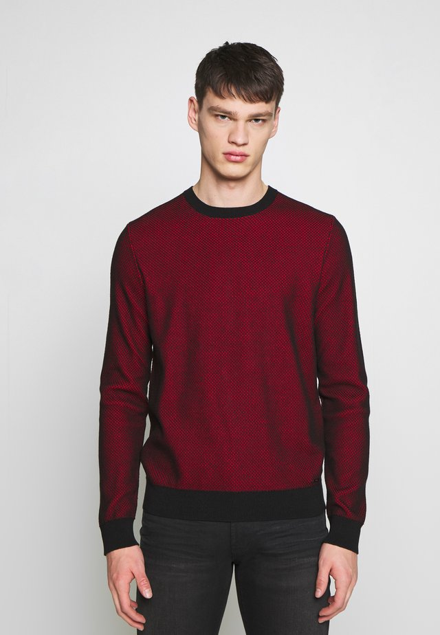SAILLO - Maglione - black/red
