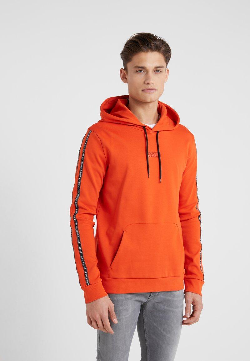 HUGO - DERCOLANO - Hoodie - dark orange