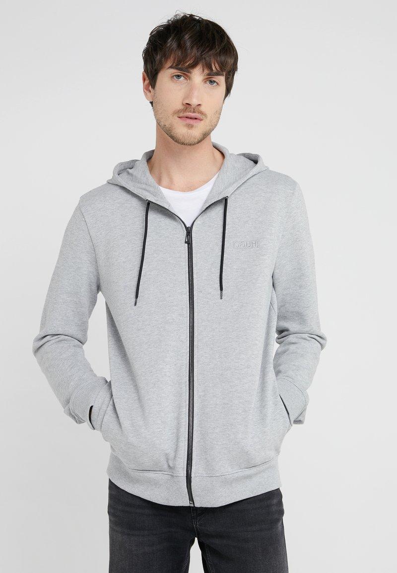 HUGO - DAPLE - Hoodie met rits - open grey