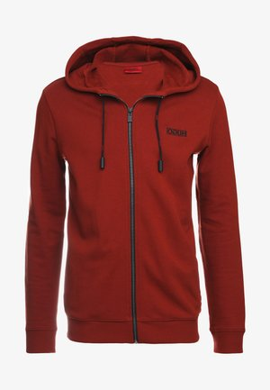 DAPLE - Zip-up hoodie - rust red