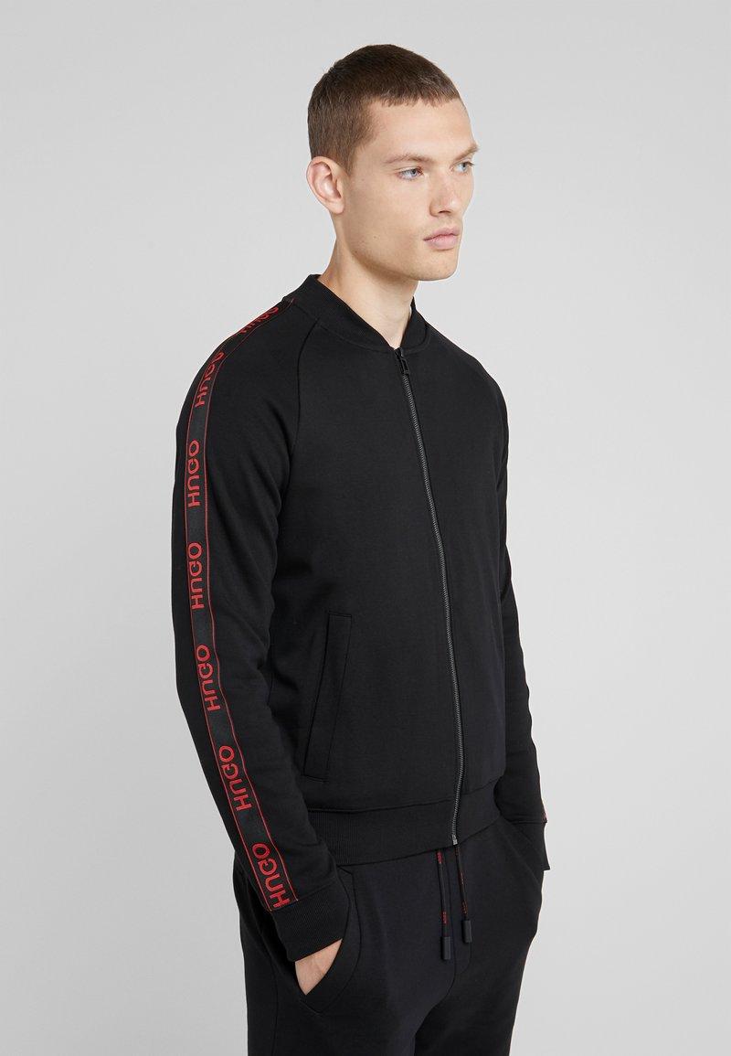 HUGO - DALKUTTA - Zip-up hoodie - black