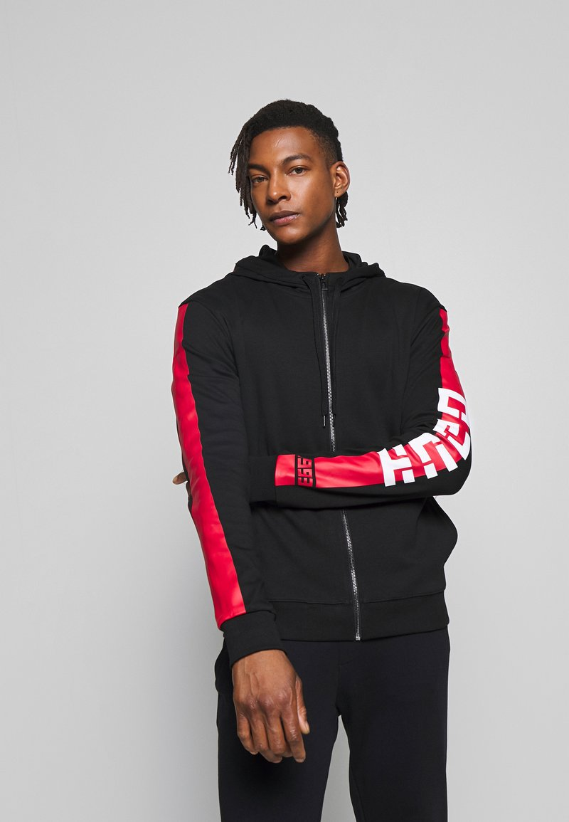 HUGO - DALZ  - veste en sweat zippée - black