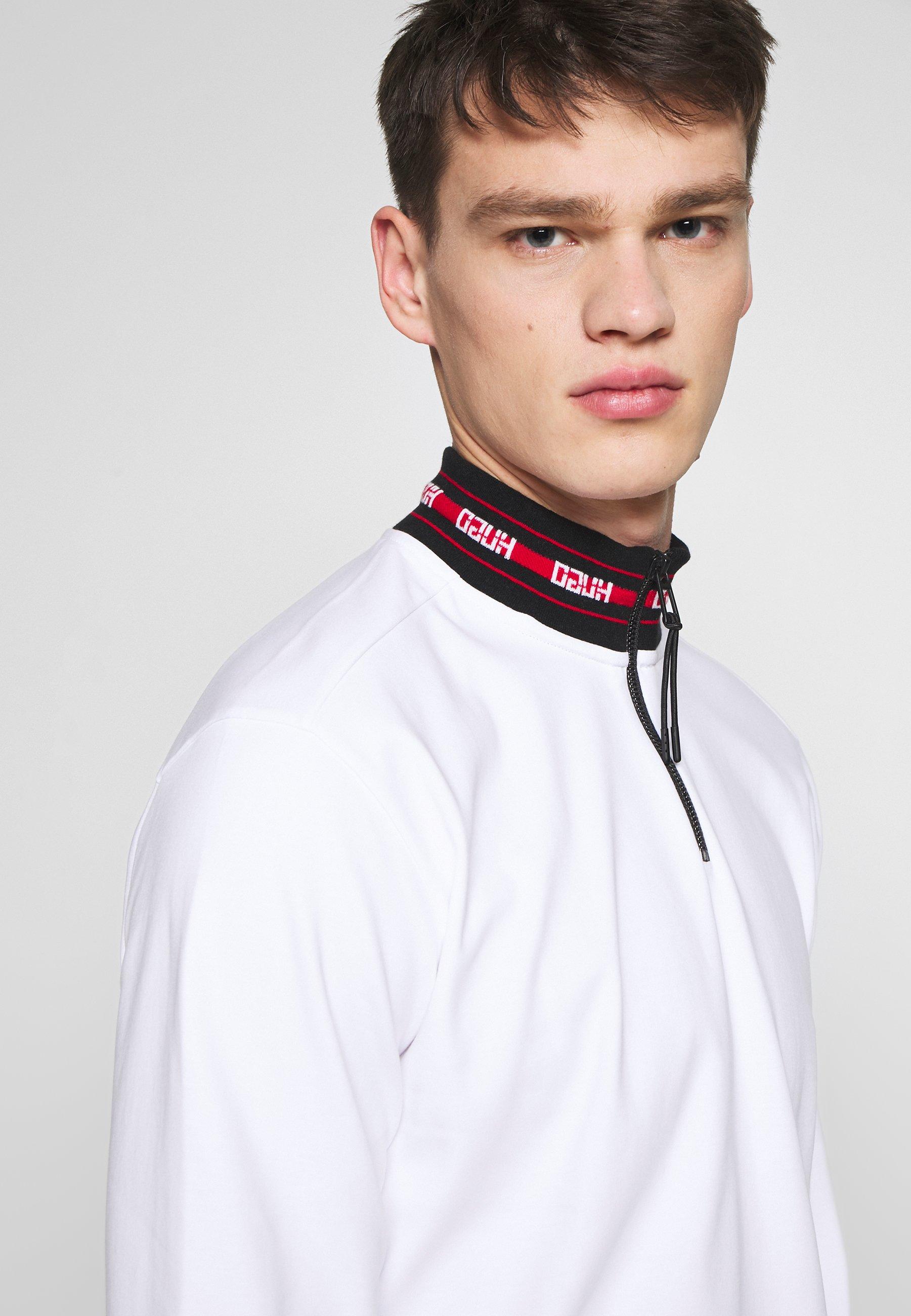 HUGO DODER 10223129 01 - Bluzka z długim rękawem - white