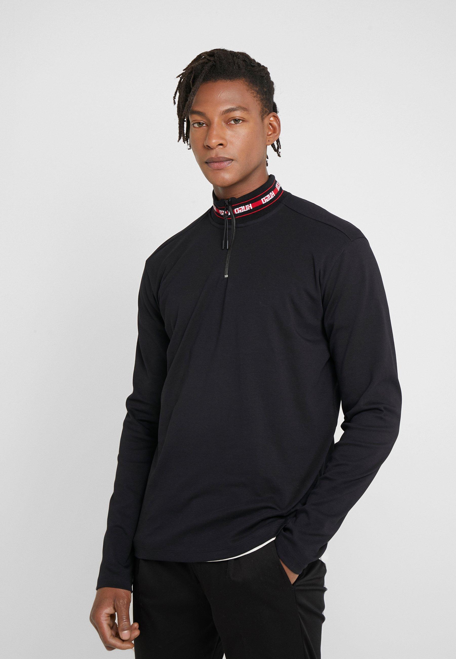 HUGO DODER 10223129 01 - Bluzka z długim rękawem - black