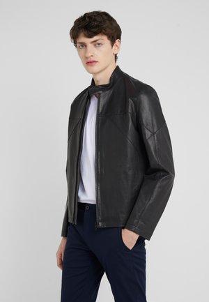 LUTGER  - Leather jacket - black