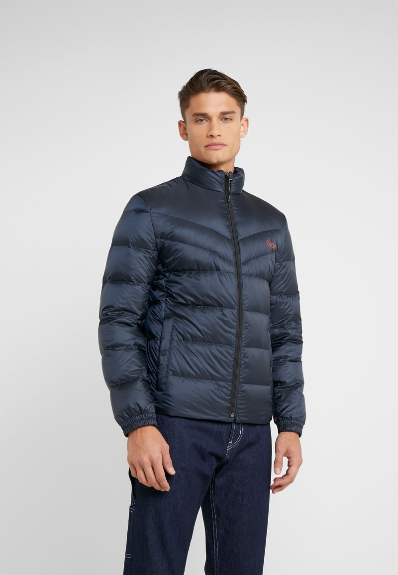 HUGO - BALTO - Down jacket - navy with red