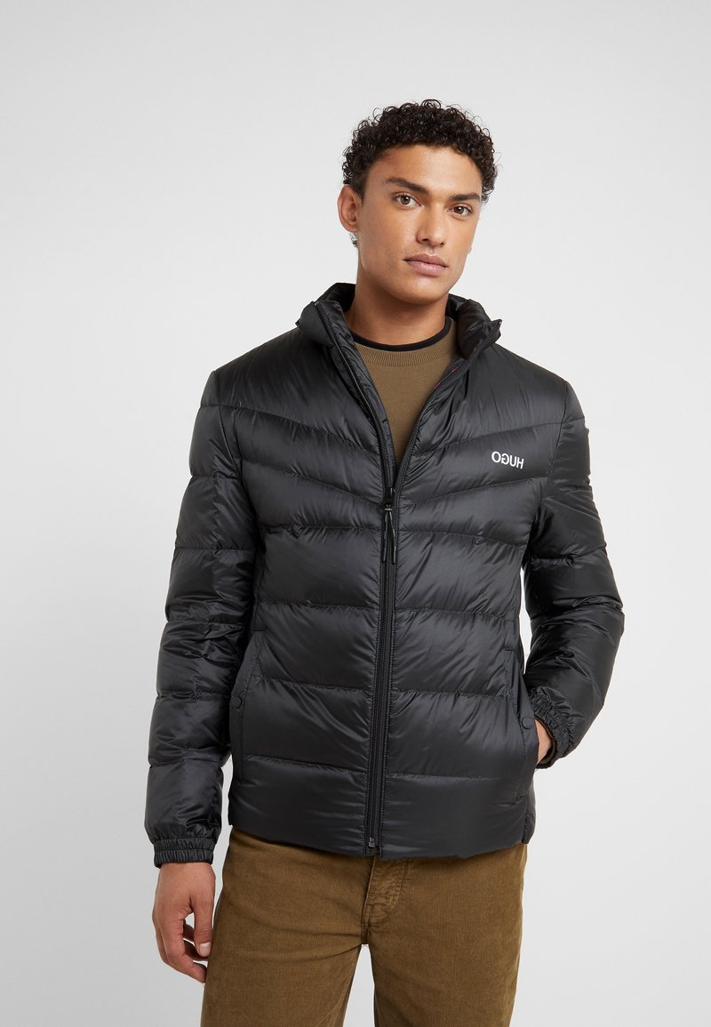 HUGO - BALTO - Down jacket - black/ white contrast