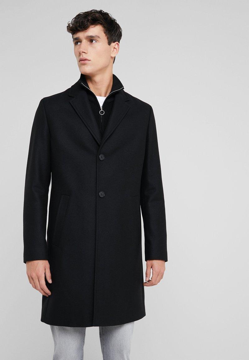 HUGO - MALTE - Wollmantel/klassischer Mantel - black