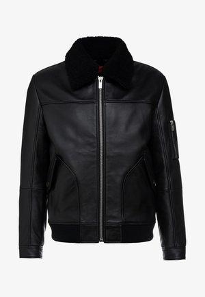 LANNZONN - Leren jas - black