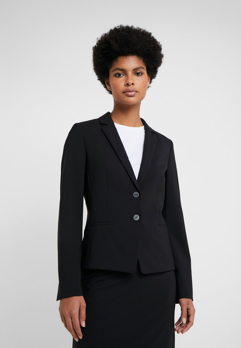 HUGO - THE SHORT JACKET - Blazer - black